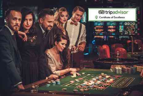 The Sportsman Casino - Two course meal for two including a glass of wine and £10 casino voucher each - Save 62%