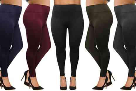 Groupon Goods Global GmbH - Two Pack of Plus Size Fleece Lined Leggings - Save 0%