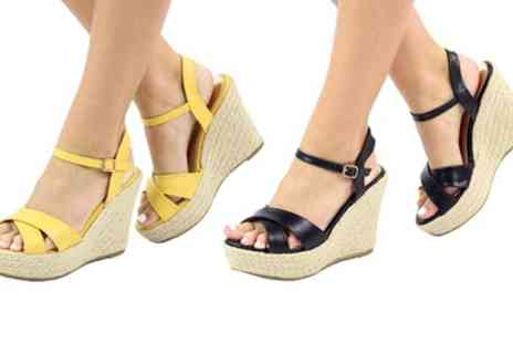 Groupon Goods Global GmbH - Womens Wedge Espadrille Sandals - Save 0%