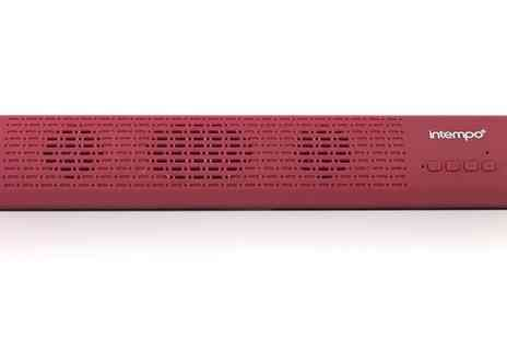Groupon Goods Global GmbH - Intempo EE1809REDSTK Mini Bluetooth Sound Bar - Save 40%