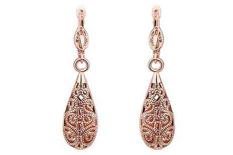 Groupon Goods Global GmbH - One or Two Pairs of Laser Cut Drop Down Earrings - Save 70%