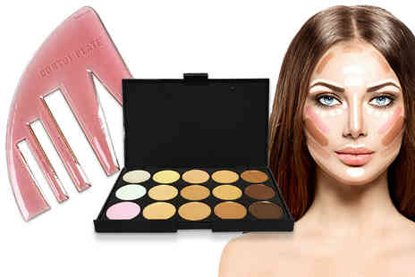 Forever Cosmetics - 15\ shade concealer contouring palette and Contomplate contouring template - Save 72%