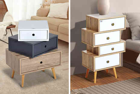 Aosom - Three or four drawer end table - Save 57%