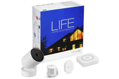 Groupon Goods Global GmbH - TCL Life Home Monitoring Kit, iOS or Android With Free Delivery - Save 34%