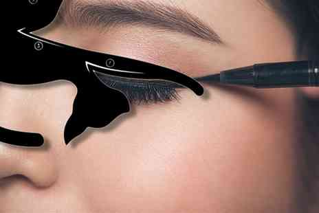 Groupon Goods Global GmbH - Two, Four or Eight Cat Eyeliner Stencils - Save 70%