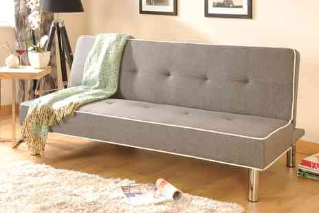 Groupon Goods Global GmbH - Meribel Fabric Sofa Bed in Choice of Colour With Free Delivery - Save 67%
