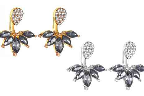 Groupon Goods Global GmbH - One or Two Pairs of Leaf Ear Jacket Earrings - Save 68%