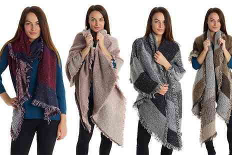 Groupon Goods Global GmbH - One or Two Oversized Fashion Scarves - Save 78%
