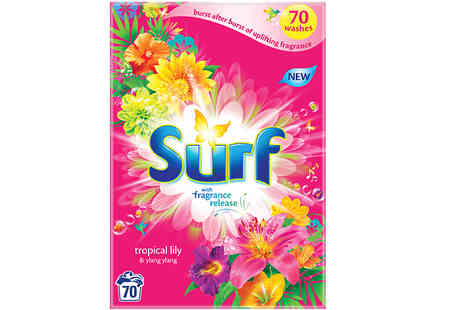 Global Merchant Support - Surf Tropical Lily Washing Powder 70 or 140 Washes - Save 25%