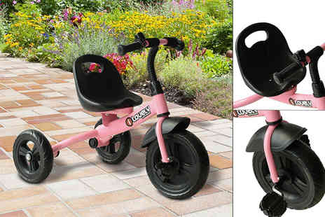 Mhstar - Toddlers ride on tricycle choose black or pink - Save 54%