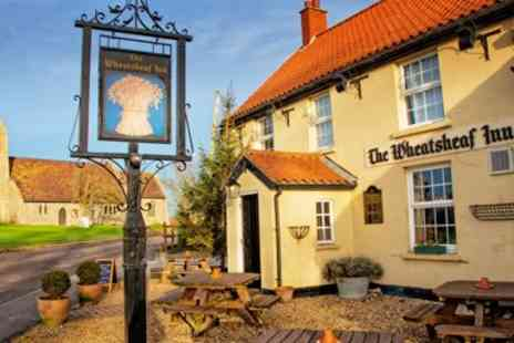 The Wheatsheaf Inn - Meal with bubbly for 2 at 16th century Lincolnshire pub - Save 52%