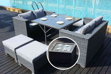 Dreams Outdoors - Eight seater cube sofa set choose from three colours - Save 54%