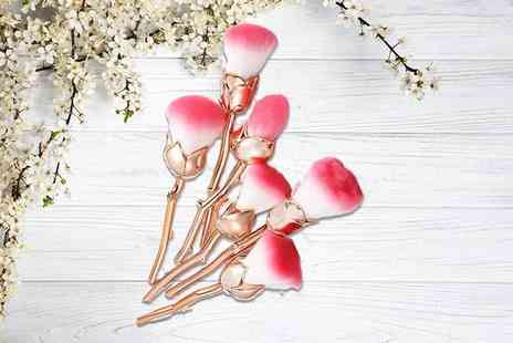 Forever Cosmetics - Beauty and the beast inspired rose gold makeup brushes - Save 73%