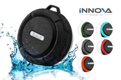Innova Brands - Portable Bluetooth shower speaker choose from five colours - Save 64%