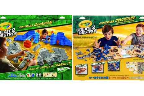 Groupon Goods Global GmbH - Crayola Create 2 Destroy Fortress Invasion Ultimate Destruction Kit - Save 65%