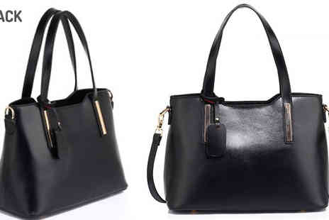 Pearl Info - Faux Leather Large Handbag Available in 3 Colours - Save 37%