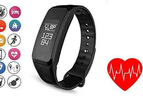 Frabjous - 15 in 1 Fitness Tracker with Blood Pressure & Heart Rate Monitor - Save 61%