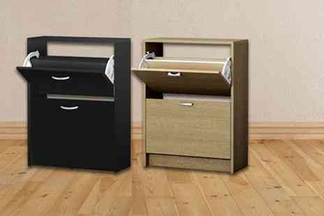 E4Emporium - Two drawer shoe storage cabinet choose from two colours - Save 56%