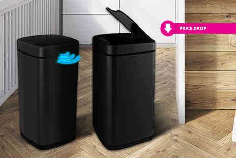 Eurotrade - Round 40L Hands Free Automatic Sensor Bin, or get a square design - Save 71%