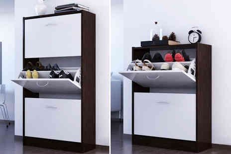 Big Furniture Warehouse - Two or three tier shoe storage cabinet - Save 54%