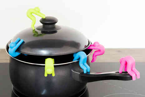 Ckent - Two silicone no spill pot holders - Save 60%