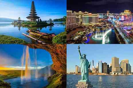 Weekender Breaks - Spectacular mystery getaway with flights holidays include Bali, New York, Vegas, Venice and more - Save 0%