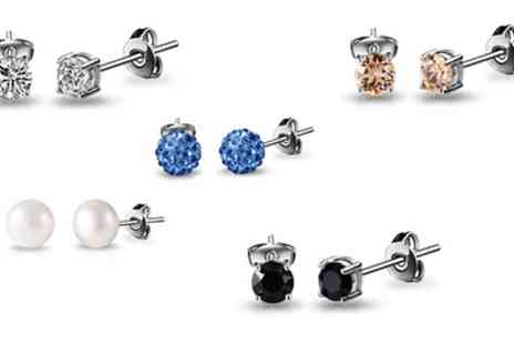 Groupon Goods Global GmbH - 10 Pairs of Phillip Jones Assorted Earrings Set - Save 89%
