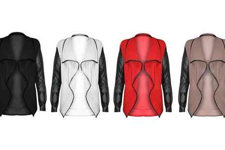 Groupon Goods Global GmbH - Be Jealous PVC Long Sleeve Blazer in Choice of Colour - Save 0%