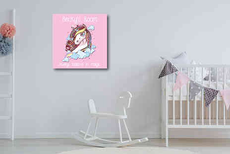 Deco Matters - Personalised kids room canvas choose from four sizes - Save 90%