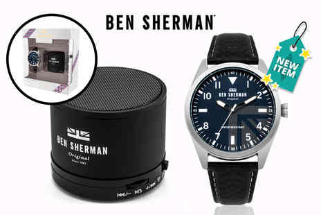 Deals Direct - Ben Sherman mens watch and Bluetooth speaker gift set - Save 52%