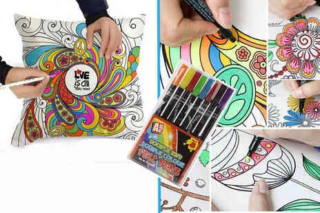 London Exchain Store - Graffiti pillowcase with eight colouring pens choose from 17 designs - Save 80%