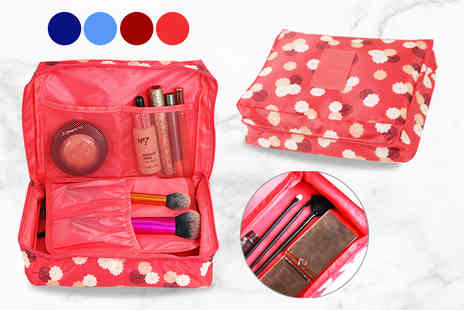 Forever Cosmetics - Fold out cosmetic organiser choose from four colours - Save 62%