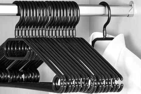 Groupon Goods Global GmbH - 20 Pack of KEPLIN Swivel Hook Rotating Coat Hangers in Black - Save 70%