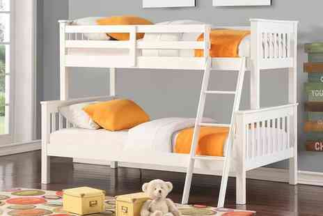 Groupon Goods Global GmbH - Harmony Wooden Triple Sleeper Bunk Bed with Optional Mattresses With Free Delivery - Save 71%
