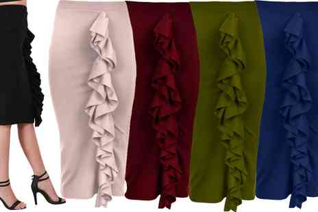 Groupon Goods Global GmbH - Be Jealous Frill Midi Skirt - Save 45%