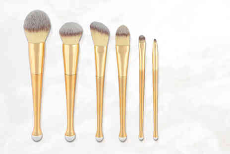 Jazooli - Six piece gold brush set - Save 64%