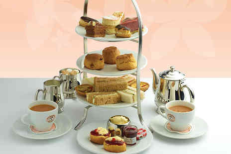 Patisserie Valerie - Afternoon tea for two with optional glass of Prosecco each - Save 24%
