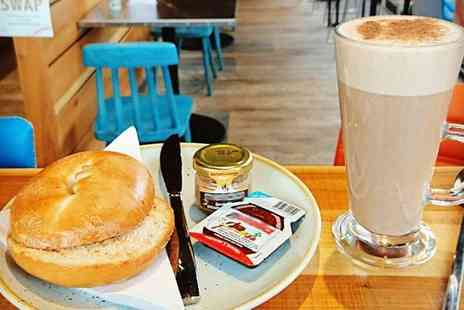 Urban Cafe Fountainbridge - Breakfast Roll and Hot Drink for One, Two or Four - Save 46%