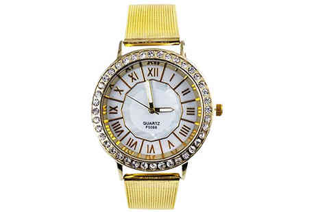 Trendy Banana - Juliet Gold Tone Stainless Steel Watch Available in 2 Colours - Save 89%