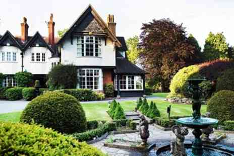 Mere Court Hotel & Conference Centre - Cheshire country house stay with meals & bubbly - Save 54%