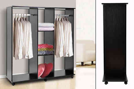 Aosom - Double open wardrobe with rails - Save 54%
