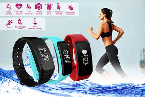 Measurenetics - 17 in 1 fitness tracker bracelet choose from three colours - Save 80%