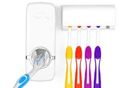 Groupon Goods Global GmbH - One or Two Toothbrush and Toothpaste Holders - Save 60%