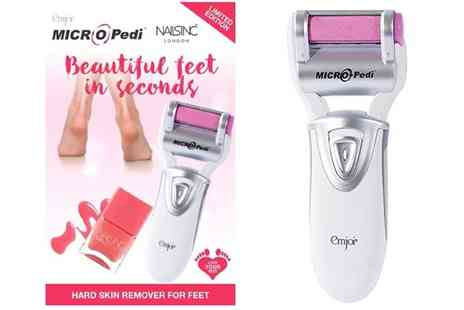 Groupon Goods Global GmbH - Micro Pedi Hard Skin Remover for Feet with Nails Inc Nail Polish - Save 55%