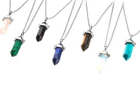 Groupon Goods Global GmbH - One or Two Philip Jones Gemstone Necklaces - Save 83%