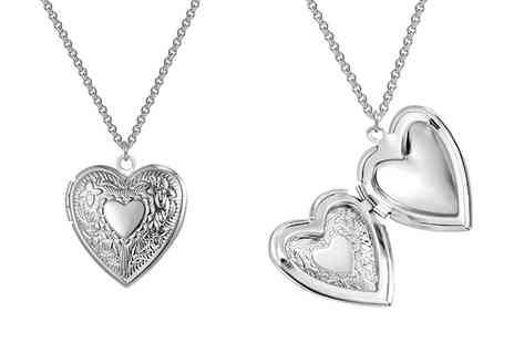 Groupon Goods Global GmbH - One or Two Philip Jones Heart Lockets - Save 81%