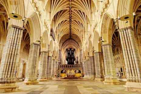Exeter Cathedral - Exeter Cathedral annual pass, tour & hot drink for 2 - Save 57%