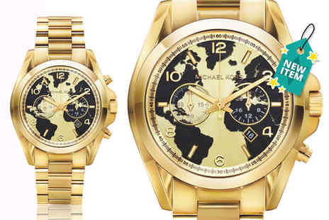 Wristy Business - Michael Kors oversized gold Bradshaw chronograph watch - Save 35%