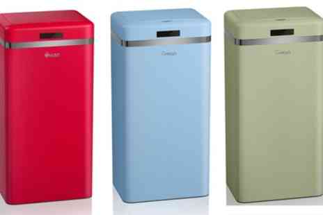 Groupon Goods Global GmbH - Swan 45L Retro Style Sensor Bin With Free Delivery - Save 64%