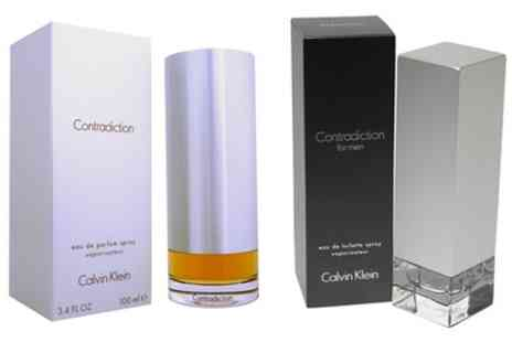 Groupon Goods Global GmbH - Calvin Klein Contradiction For Men 100ml Eau de Toilette or Eau de Parfum Spray - Save 67%